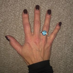 Jewelry - Sterling Blue Topaz Quartz Ring - Size 7.5